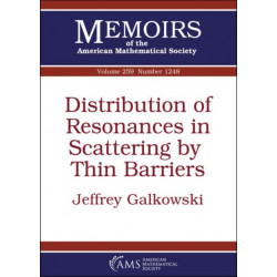 Distribution of Resonances in Scattering by Thin Barriers