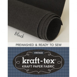 kraft-tex (R) Vintage Roll, Black Prewashed: Kraft Paper Fabric