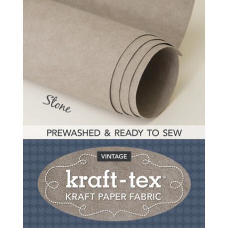 kraft-tex (R) Vintage Roll, Stone Prewashed: Kraft Paper Fabric