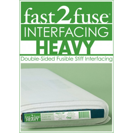 """fast2fuse HEAVY bolt 20"""" x 10 yards: Double-Sided Fusible Stiff Interfacing"""