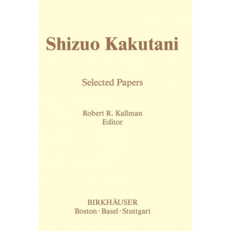 Shizuo Kakutani: Selected Papers