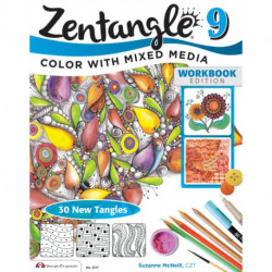 Zentangle 9: Adding Beautiful Colors with Mixed Media