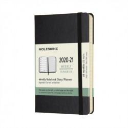 Moleskine 2021 18-Month Weekly Pocket Hardcover Diary: Black