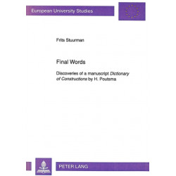 """Discoveries of a Manuscript """"Dictionary of Constructions"""" by H.Poutsma"""