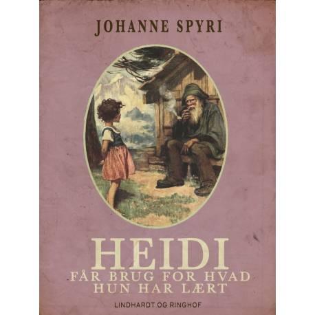 Heidi - får brug for hvad hun har lært