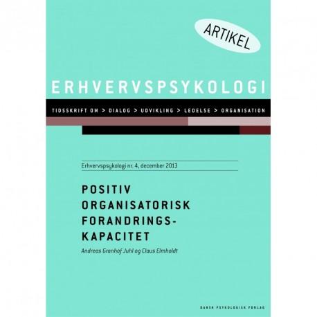 Positiv organisatorisk forandringskapacitet