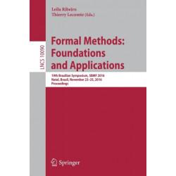 Formal Methods: Foundations and Applications: 19th Brazilian Symposium, SBMF 2016, Natal, Brazil, November 23-25, 2016, Proceedings