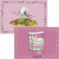 H.C. Andersen dækkeservietter: Prinsesse på ærten/Den lille havfrue