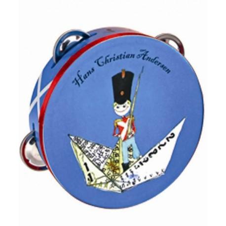 H.C. Andersen tambourine med tinsoldat motiv