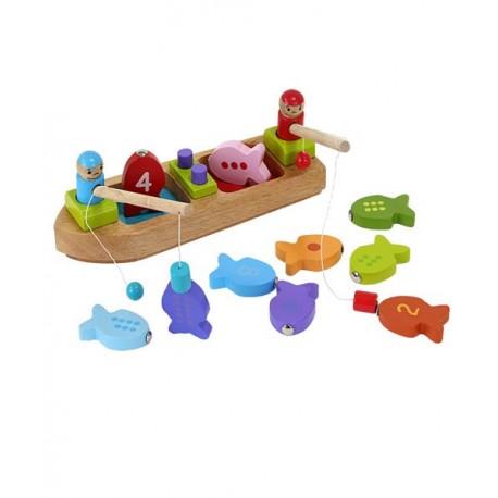 Fiskebåd i træ