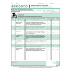 Parenting Interactions with Children: Checklist of Observations Linked to Outcomes (PICCOLO (TM)) Tool: Pack of 25 Forms