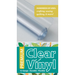 "Premium Clear Vinyl Roll 16"" x 11/2 Yard Roll: 12 Gauge, Durable & Flexible"