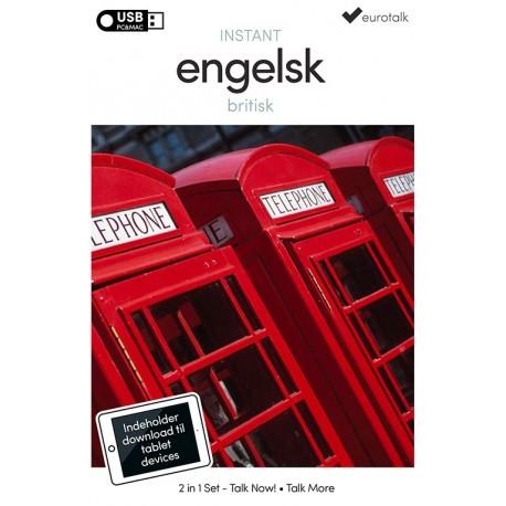 Britisk engelsk begynder- og parlørkursus USB & download
