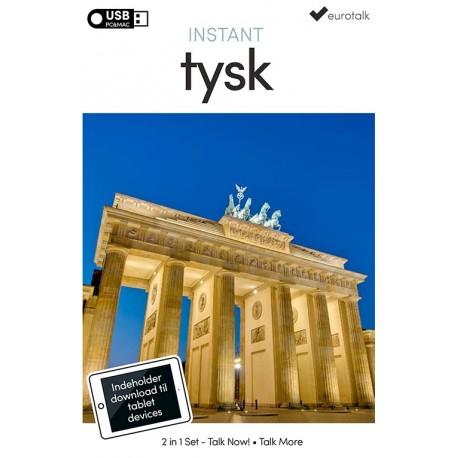 Tysk begynder- og parlørkursus USB & download