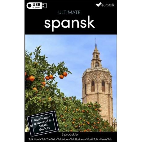 Spansk samlet kursus USB & download