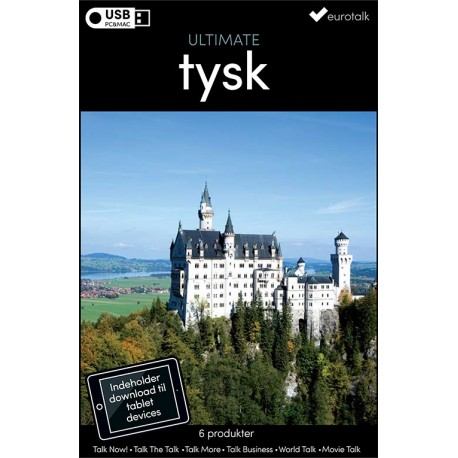 Tysk samlet kursus USB & download
