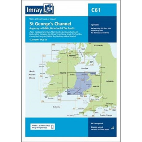 Imray Chart C61: St Georges Channel - Anglesey to Dublin, Waterford and the Smalls