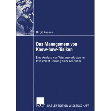 Das Management von Know-how-Risiken