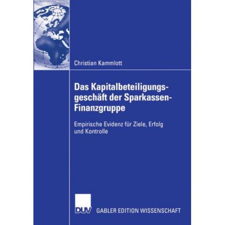 Das Kapitalbeteiligungsgeschaft der Sparkassen-Finanzgruppe