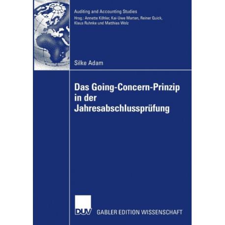 Das Going Concern Prinzip in Der Jahresabschlussprufung