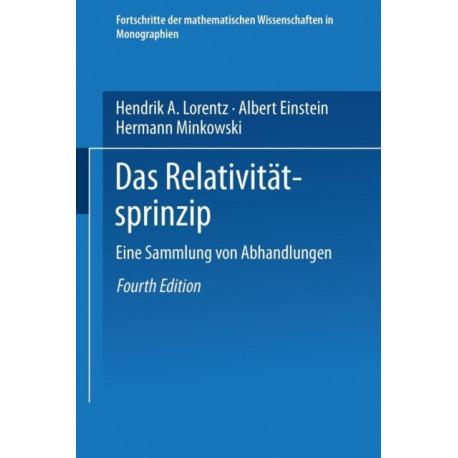 Das Relativitatsprinzip: Eine Sammlung Von Abhandlungen