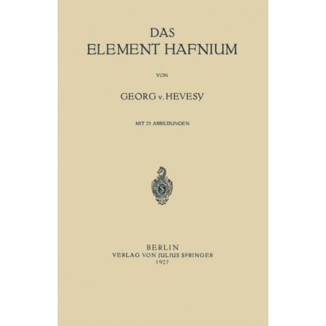 Das Element Hafnium
