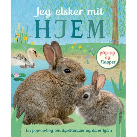 Jeg elsker mit hjem: Pop-op-bog om dyrefamilier og deres hjem