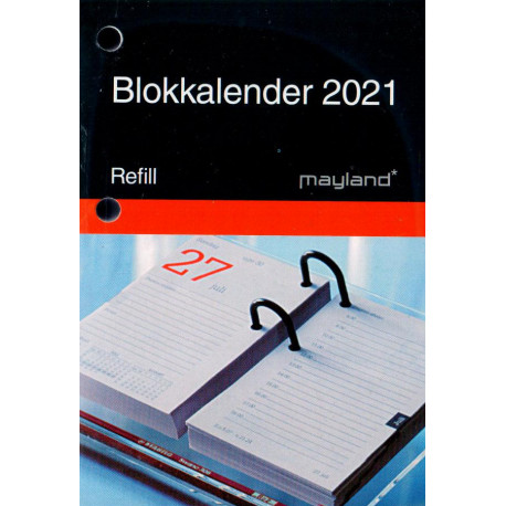 2021 Blokkalender, refil Mayland