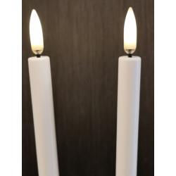 UYUNI LED 2-pak Juletræslys m. 3D flamme