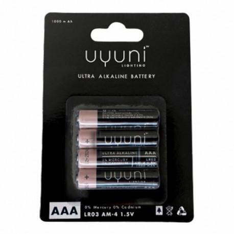 Uyuni  4 pak batteri AAA