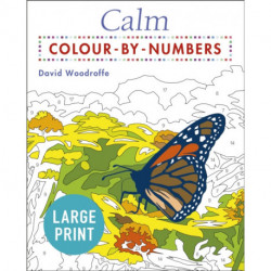 Calm Large Print Colour by Numbers: -