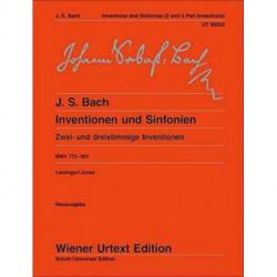 Inventions and Sinfonias Bwv 772-801: Zwei- Und Dreistimmige Inventionen