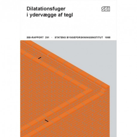 Dilatationsfuger i ydervægge af tegl