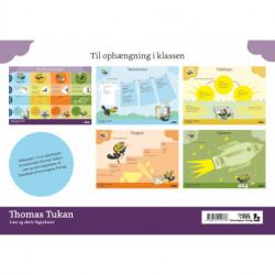 Thomas Tukan, Plakatsæt (5 stk.): Læs og skriv fagtkster i 1.-2. klasse