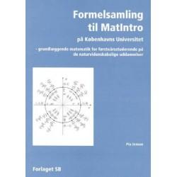 Formelsamling til MatIntro på Københavns Universitet: grundlæggende matematik for førsteårsstuderende på de naturvidenskabelige uddannelser