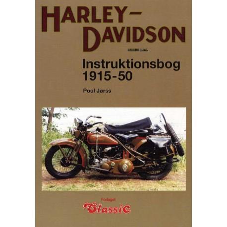 Harley-Davidson instruktionsbog 1915-51: alle halvtop- og sideventilede modeller