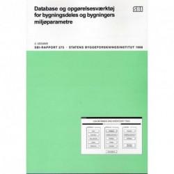 Database og opgørelsesværktøj for bygningsdeles og bygningers miljøparametre