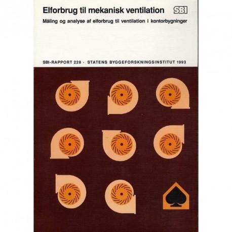 Elforbrug til mekanisk ventilation: måling og analyse af elforbrug til ventilation i kontorbygninger