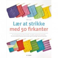 Lær at strikke med 50 firkanter: en unik tilgang til strikkeundervisning for begyndere og øvede