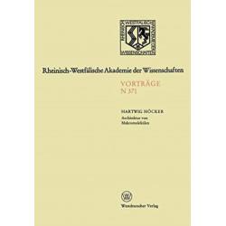 Architektur von Makromolekulen: 343. Sitzung am 7. Oktober 1987 in Dusseldorf