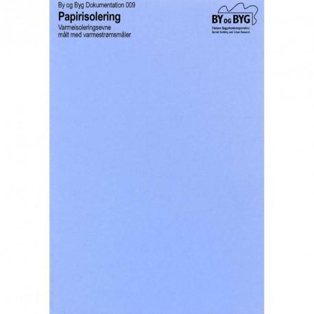 Papirisolering: varmeisoleringsevne målt med varmestrømsmåler