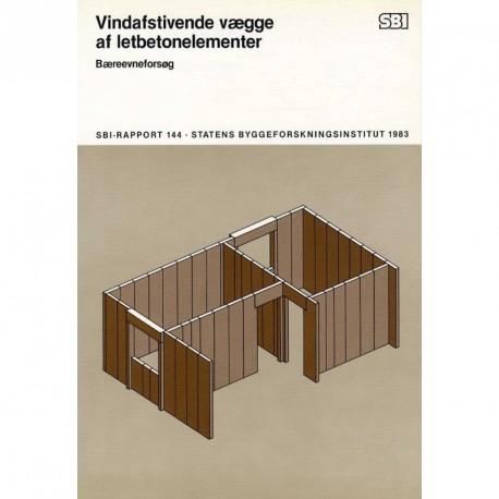 Vindafstivende vægge af letbetonelementer: Bæreevneforsøg