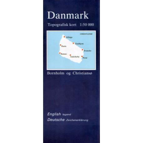 Topografisk kort over Bornholm og Christiansø