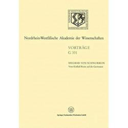 Vom Einflu Roms auf die Germanen: 372. Sitzung am 16. Februar 1994 in Dusseldorf