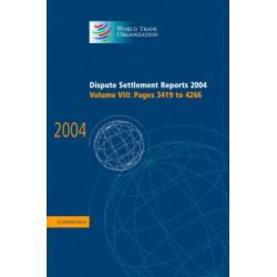 Dispute Settlement Reports 2004