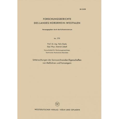 Untersuchungen Der Kennzeichnenden Eigenschaften Von Messuhren Und Feinzeigern
