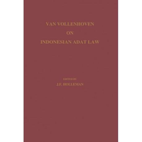Van Vollenhoven on Indonesian Adat Law