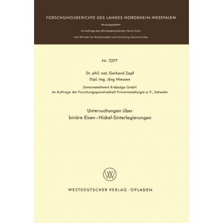 Untersuchungen UEber Binare Eisen-Nickel-Sinterlegierungen