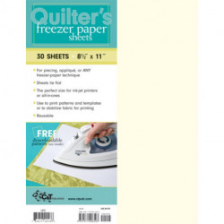 """Quilter's Freezer Paper Sheets: 30 Sheets, 8 1/2"""" x 11"""""""