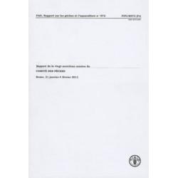 Rapport de la vingt-neuvieme session du comite des peches: Rome, 31 janvier-4 fevrier 2011